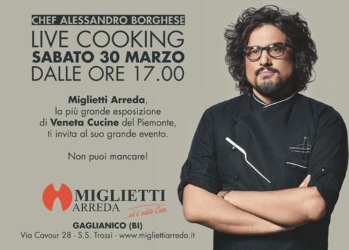 Alessandro Borghese: live cooking da Veneta Cucine - video
