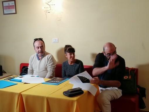 Sandro Gino, Nadia Macis e Alessandro Castigliano alla presentazione della stagione degli Anacoleti