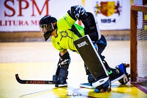 Fabio Errico, portiere di Engas Hockey Vercelli, autore di un match da incorniciare (foto di Chiara Jett Tugnolo)
