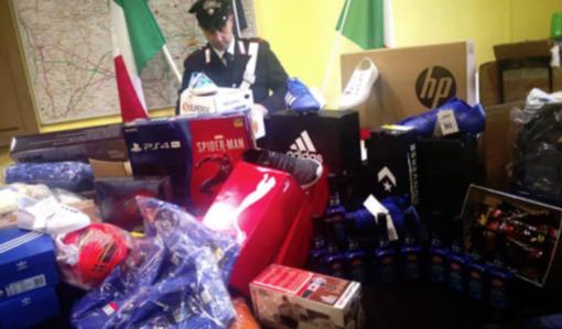 La merce che i carabinieri sequestrarono a ottobre