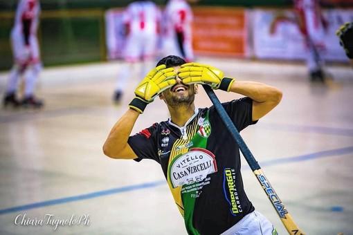 Juan Moyano, mattatore del derby con 5 reti in una foto di chiara Jett Tugnolo.