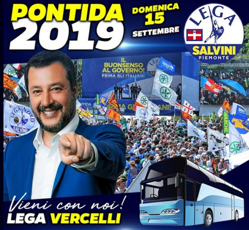 Raduno di Pontida: due pullman da Vercelli
