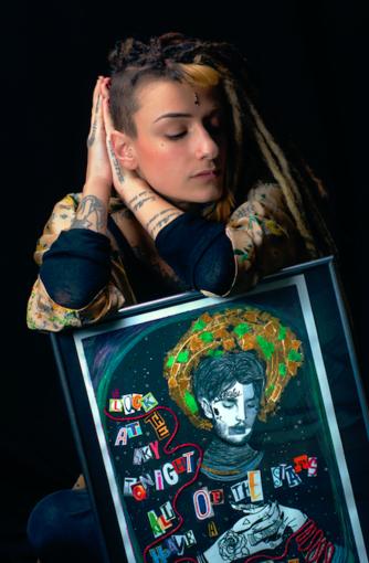 Greta Molinari e alcune sue opere