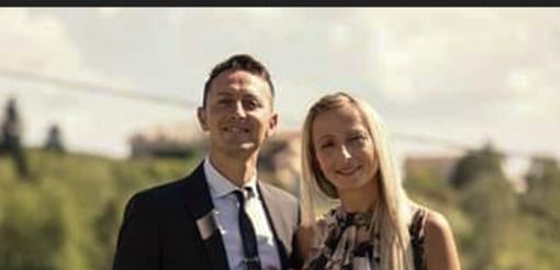 Marco Albanese con la moglie Carla Liberti