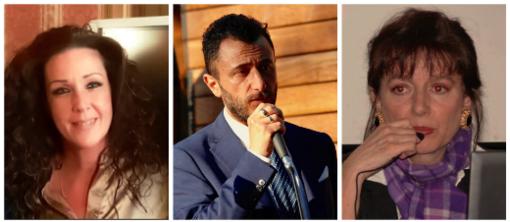 Da sinistra, Patrizia Evangelisti, Emanuele Pozzolo, Ombretta Olivetti