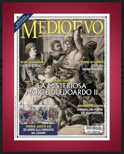 Il mistero di Edward II di Gianna Baucero, sulla rivista Medio Evo