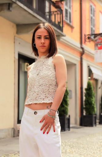 Giulia Borra, condidata con Robeto Scheda