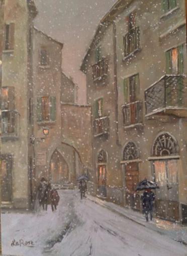 La neve al Rialto, bellissimo quadro di Mario Le Rose