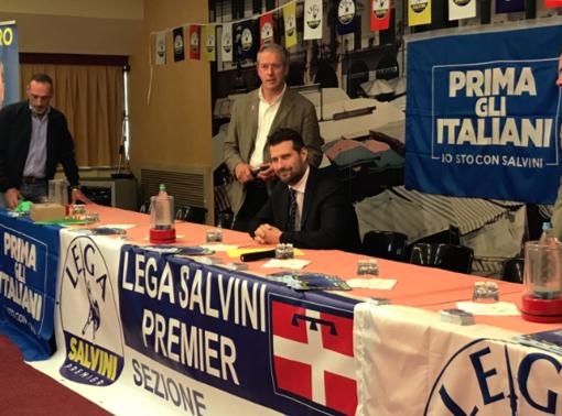 L'onorevole Tiramani e il segretario di Lega per Salvini a Vercelli, Locarni