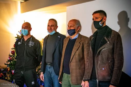 Da sinistra, Motaran, Davide e Gianni Alessio, Masi (foto Chiara Jett Tugnolo)