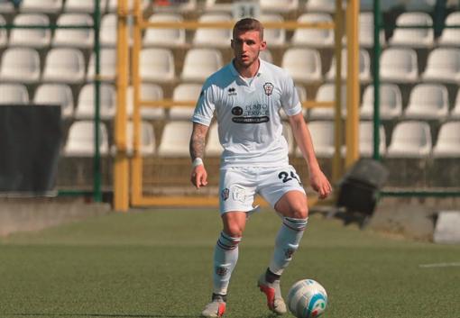 Simone Auriletto, primo gol con la maglia della Pro