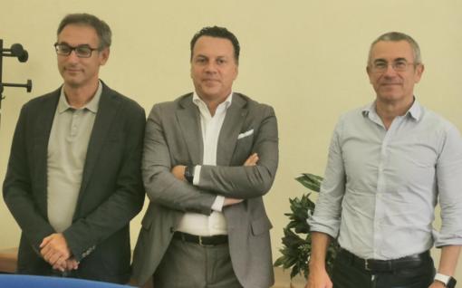 Il presidente Eraldo Botta (al centro) con i tecnici Marco Acerbo e Marco Crociani