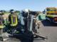 Schianto in autostrada: auto distrutta e una persona ferita