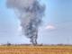 Un'immagine della zona interessata dall'incendio