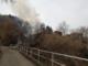 Borgosesia: incendio domato in frazione Agnona - FOTO
