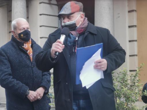 Antonio Bisceglia e Jose Saggia durante una manifestazione di Ascom