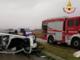Incidente sulla Trossi: auto si ribalta, un ferito