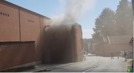 Incendio in Lanificio: grave un operaio