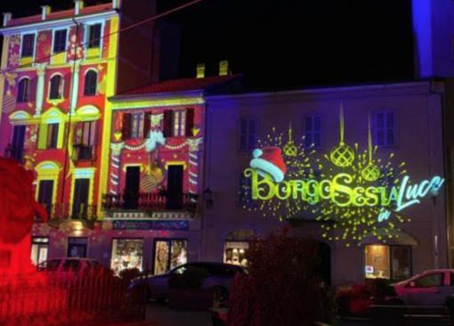 Borgosesia: luci e musica per riapertura dei negozi