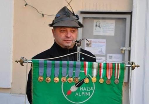 Luciano Ciervo era segretario della sezione Alpini di Prarolo