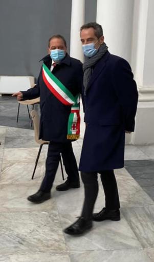 Il sindaco Corsaro e il manager Asl Penna