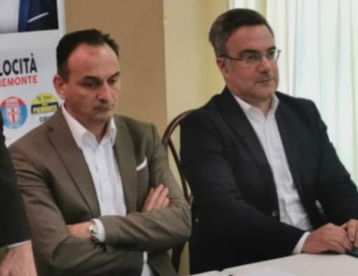 Il presidente Alberto Cirio e il consigliere regionale Alessandro Stecco