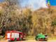 Vigili del Fuoco, Carabinieri Forestali e Aib all'opera per un incendio a Civiasco