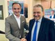 Cirio e Andrea Corsaro, candidato sindaco di Vercelli