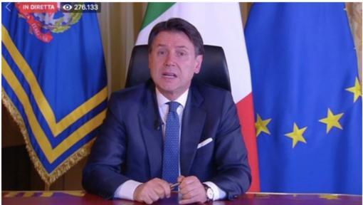 """Conte: """"Sanzioni da 400 a tremila euro per chi esce di casa senza un valido motivo"""""""