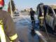 Tamponamento e furgone a fuoco a Cavaglià