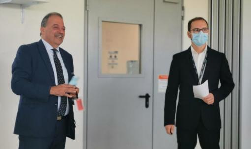Il sindaco Corsaro e il site manager Alberici