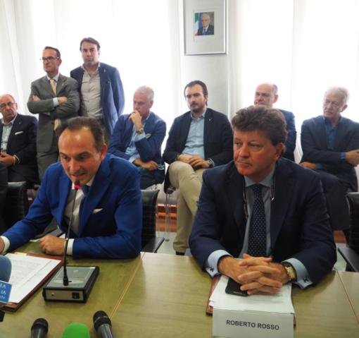 Il presidente Alberto Cirio e l'assessore Roberto Rosso
