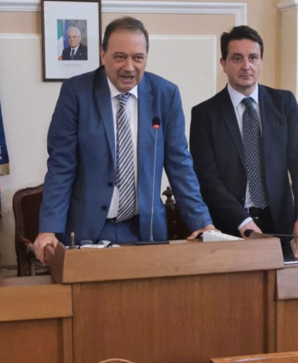 Il sindaco Andrea Corsaro e il vice Massimo Simion