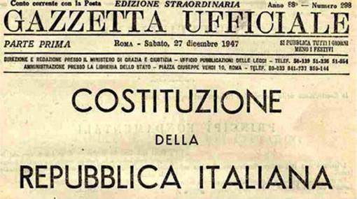 Il 1° gennaio di 70 anni fa entra in vigore la Costituzione