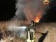 Sfalci a fuoco a Caresana, rogo nella serata di domenica