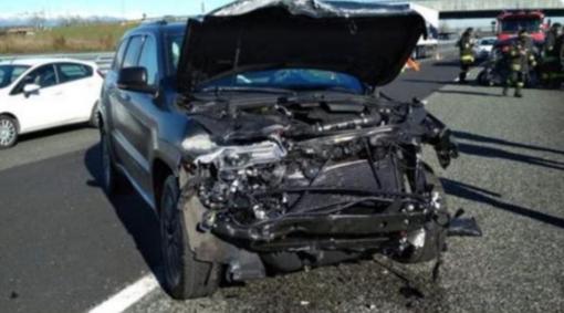 La vettura distrutta