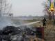 Argine della Sesia: incendio distrugge due roulotte - FOTO