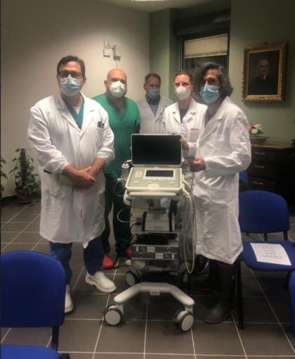 Il volontariato nell'emergenza sanitaria: donato un nuovo ecografo all'ospedale di Borgosesia