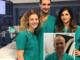 I componenti del team di Elettrofisiologia (da sin. Federica De Vecchi, Mario Matta e Chiara Devecchi) e nel riquadro il primario Francesco Rametta