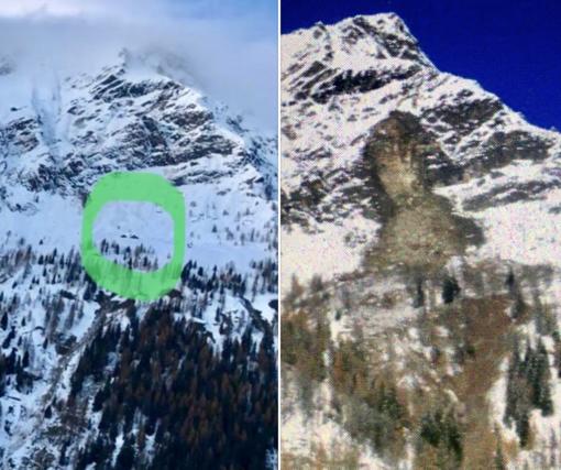 Impressionante frana in Val Vogna: chiusa la strada per la Peccia