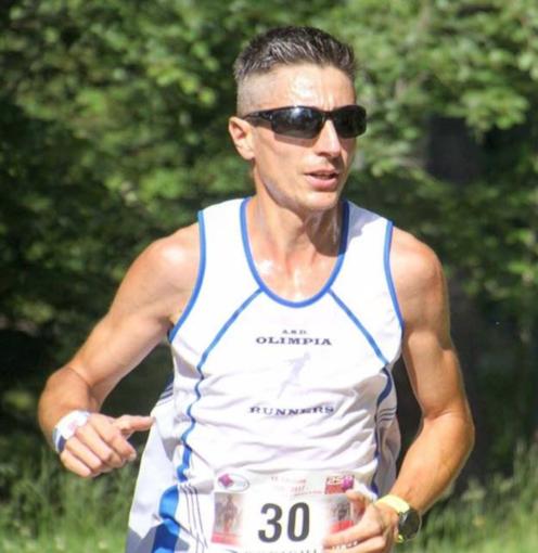 L'atleta borgodalese Fabio Bosio