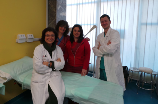 Roberta Petrino, direttore pronto soccorso, l'infermiera Patrizia Loggia con la coordinatrice del pronto soccorso Valeria Asaro e l'ortopedico Giuliano Viafora