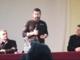 Il sindaco Cappuccio, Ivan Terranova (Fiom Cgil) e il parroco don Stefano Bedello