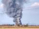 Il capannone devastato dalle fiamme