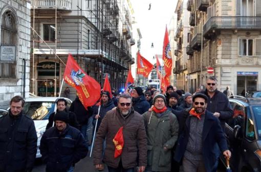La delagazione che era stata ricevuta a Torino