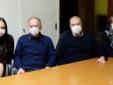 Da sin: Lesca, Libero, Fontanini e Talentino (commissione Odontoiatri)