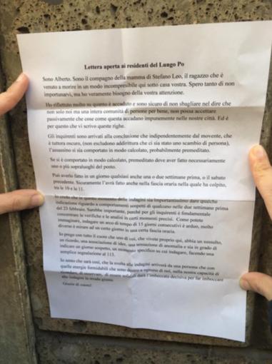 """""""Siate solidali: aiutate le forze dell'ordine a trovare chi ha ucciso Leo"""""""