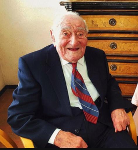 Lorenzo Berzero al traguardo dei 110 anni