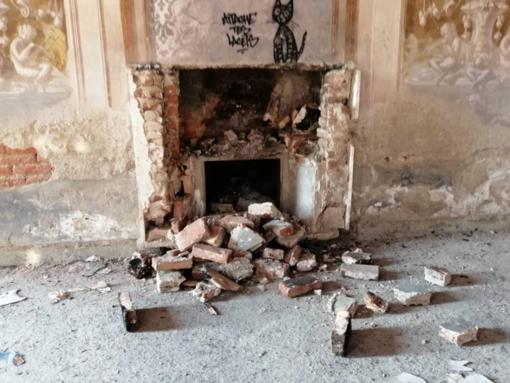 L'ultimo danno creato all'interno dello storico borgo