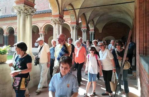 Alcuni dei vistiatori di sabato (Foto da Facebook di Vittorio Bosetti)